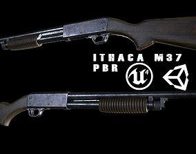 Ithaca M37 PBR 3D asset
