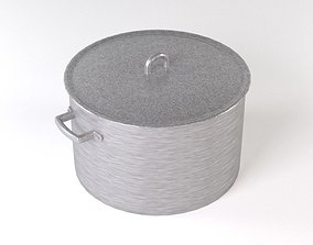 Aluminum pan 3D model