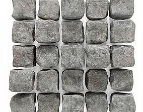 3D model Stone cube granite panel n1