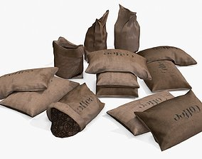Coffee Bags Assets 3D model VR / AR ready