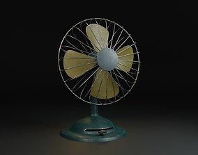 game-ready Low Poly Vintage Fan PBR 3D Model