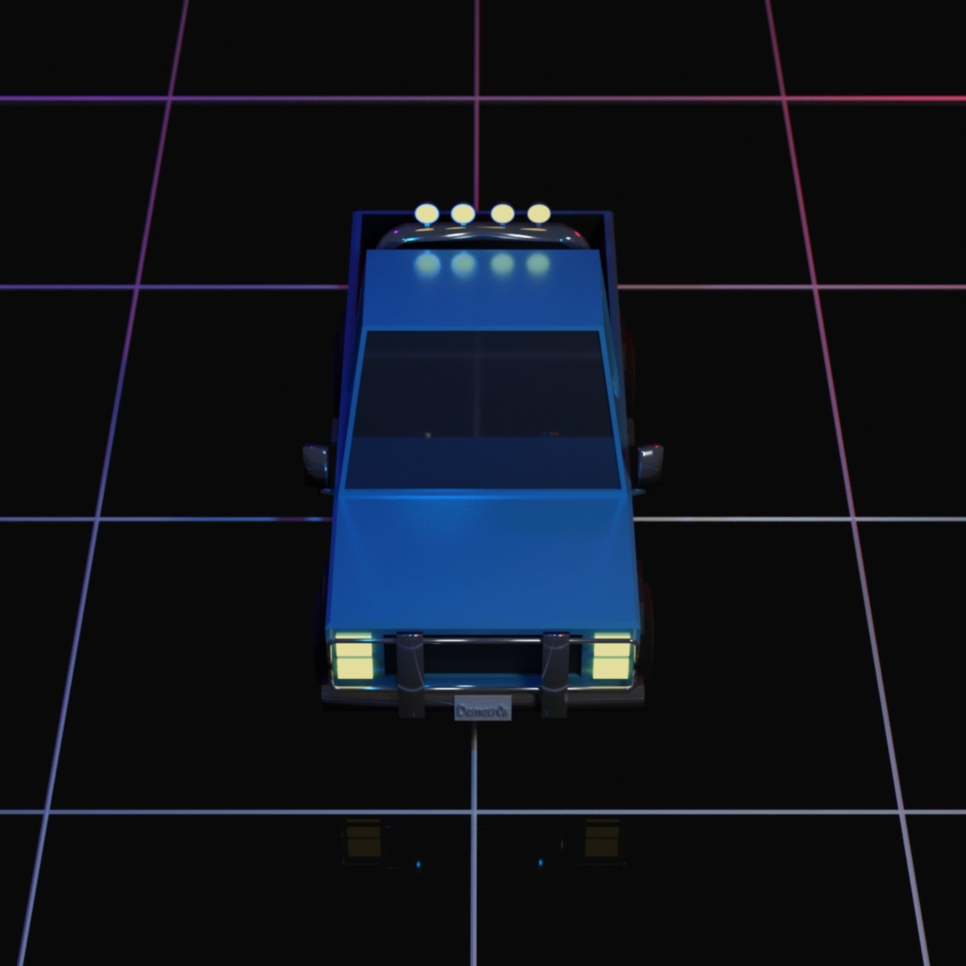 Low Poly Pickup Truck
