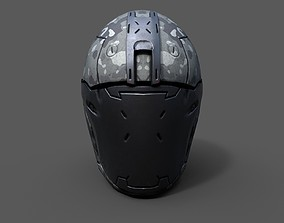 game-ready Helmet military Scifi low poly 3s model