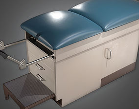 Medical Exam Table HPL - PBR Game Ready 3D model
