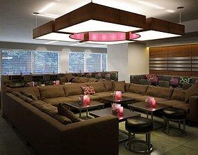 Restaurant Lounge Scene 3D model