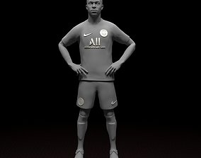 Mbappe PSG footbal player 3d model Stl files striker