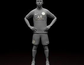 Mbappe PSG footbal player 3d model Stl files striker