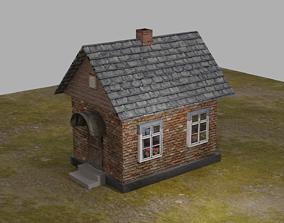 low poly house 3D model VR / AR ready PBR