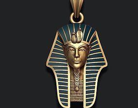 3D printable model Pharaoh pendant with enamel