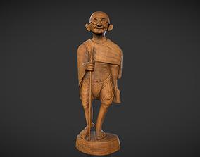 Wooden Gandhi 3D model