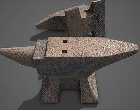 3D asset game-ready Rusty anvil pbr