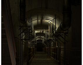 3D asset Basement Tunnel Environment