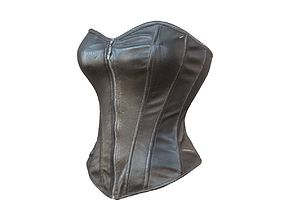 Simple leather corset 3D model
