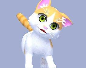3D asset rigged Cartoon Cat