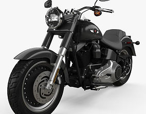 Harley-Davidson FLSTFB Softail Fat Boy Lo 2010 3D model