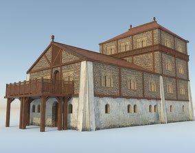 3D model Medieval Slavic palace - exterior - interior