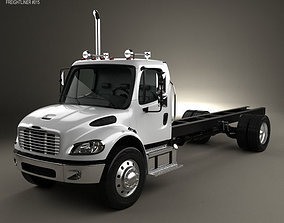 3D model Freightliner M2 106 Day Cab Chassis Truck 2014