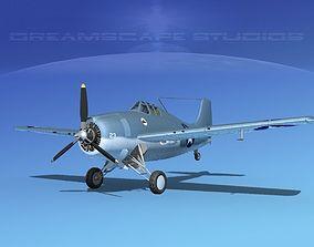 Grumman F4F-3 Wildcat V15 3D