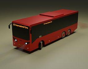 3D asset Low-Poly Bus