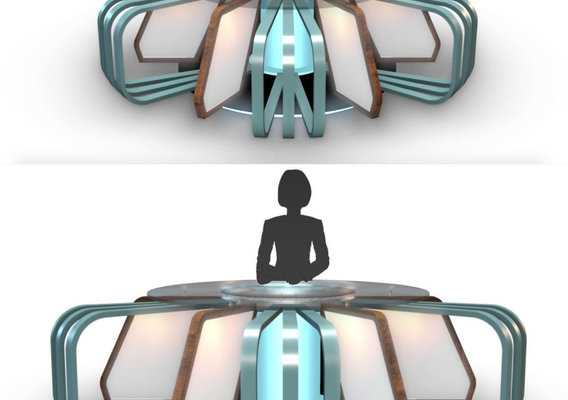 3D TV Studio News Desk 7