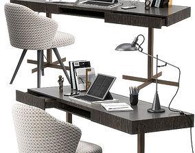 3D model Minotti Close writing desk set