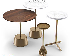 West Elm Side Table Collection I 3D