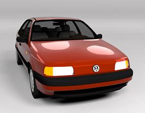 3D model VW VOLKSWAGEN PASSAT B3 LOWPOLY