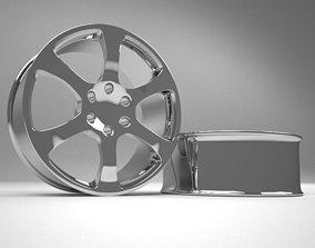 3D Alloy rim for car