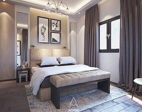 Modern bedroom - Interior design 3d model decoration