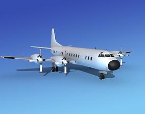 3D Lockheed L-188 Electra HP Unmarked 4
