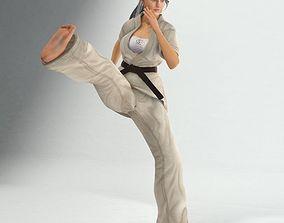 Karate Lady 3D model