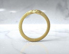 3D print model Ring double snake