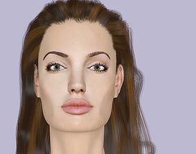 3D head Angelina Jolie