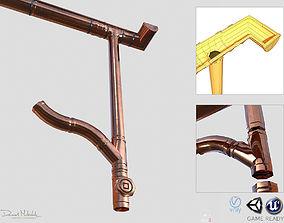 3D model New Copper Gutter System PBR