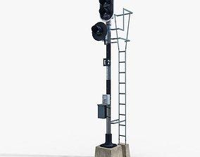 3D model Railway Traffic Light