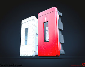 Fire extinguisher case 3D model VR / AR ready