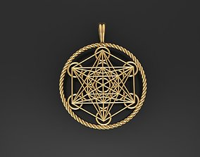 3D print model Metatron hexagon Cube Pendants