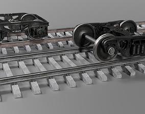 3D model Railway wheel Collection