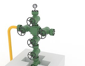 Injection well 3D asset VR / AR ready