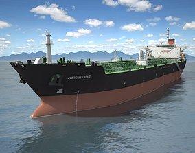 3D model Oil Tanker Ship Evergreen