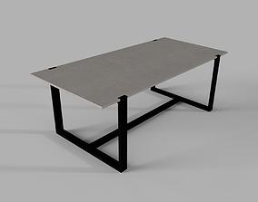 3D model RH Parker Outdoor Dining Table