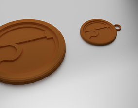 Glass Coaster Saturn and Pendant 3D printable model