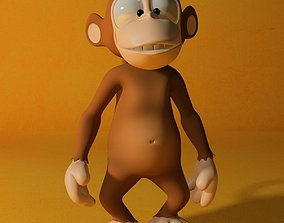3D model Cartoon monkey RIGGED