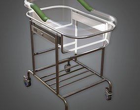 3D asset HPL - Hospital Baby Bed PBR Game Ready