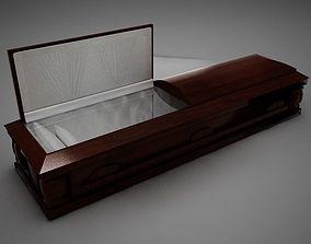 3D model High Def Wood Coffin 03