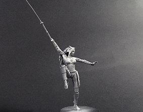 3D printable model Naginata woman warrior
