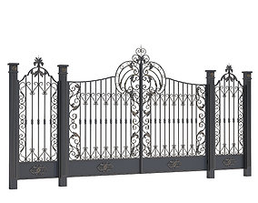forged 3D model Fence