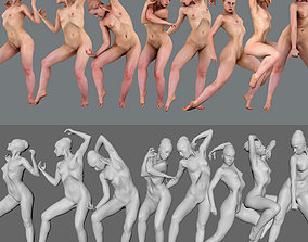 Anatomy female all pose n1 3D printable model
