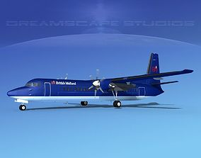 3D model Fokker F-60 British Midland