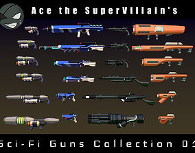 3D asset ASV SciFi Guns Volume 01